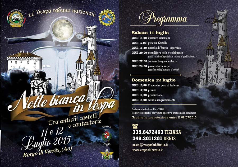 Notte bianca in Vespa