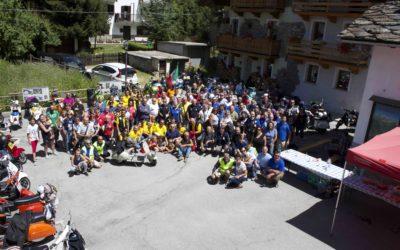 Manifestazione Vespozen a Ozein Aymavilles 21 e 22 luglio 2018