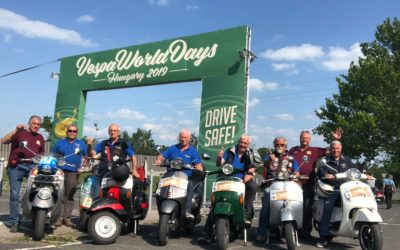 "Raduno Vespa world Day 2019 Zanka ""Ungheria"""